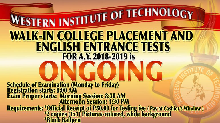 Admission Tarp for Entrance Exam 3 5x6ft